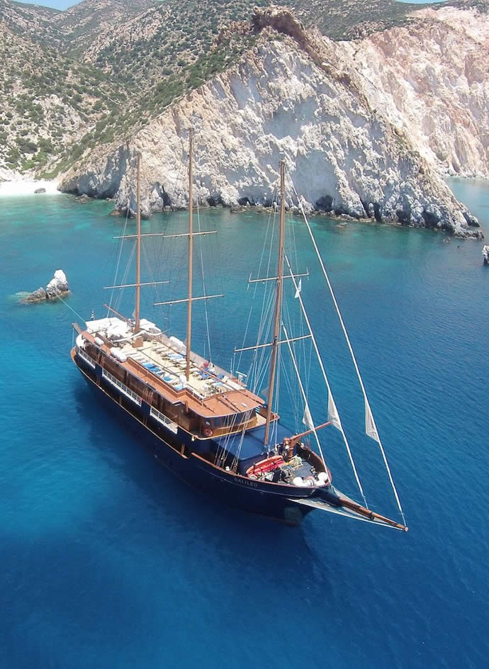Greek island small ship yacht cruises